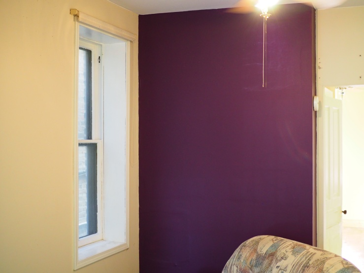 purple paint in the rental unit