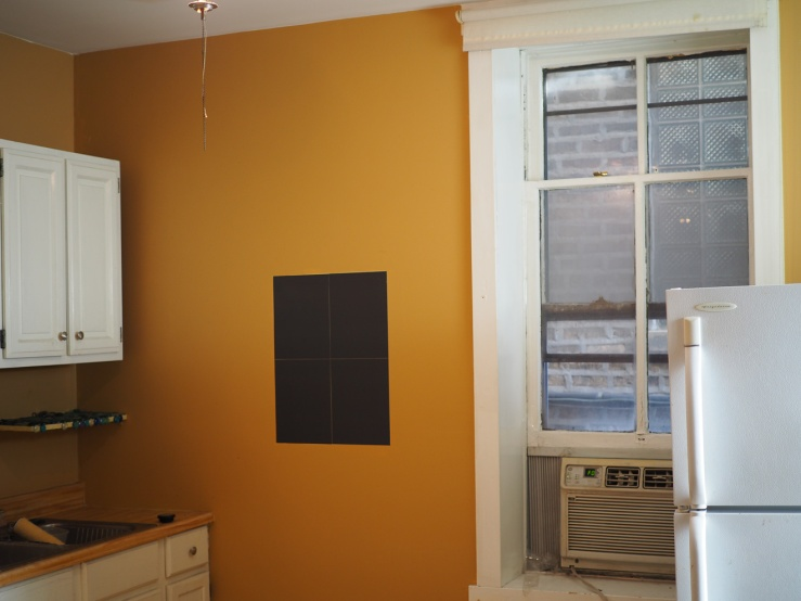 orange paint in the rental unit