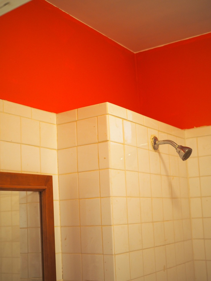 red paint in the rental unit